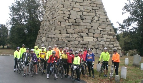 Richmond Virginia cyclists at Hollywood Cemetery